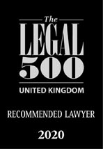 Legal 500 Recommended Lawyer logo.